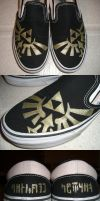 Triforce Shoes by one-crazy-fox