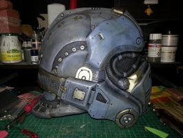 GoW  Carmine Cosplay Costume Helmet V3 Side by Devils-Claw-Art