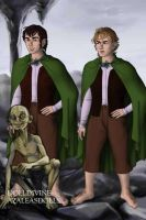 Frodo and Sam and Gollum by Kailie2122