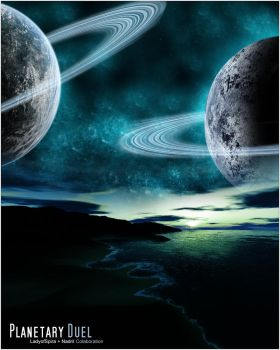 Planetary Duel by Nadril