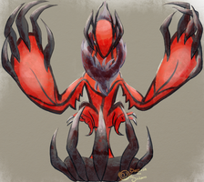 Day 8 : Yveltal by Sarcasm-theSickness