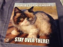 Grumpy Cat Puzzle by Emberstarr11