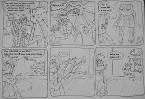 RE6 Adventures of Jake and Sherry - Scared lizard by Hukkis