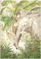an elephant trainer by K-Hiroko