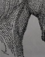 horse close up photo of the previous art by Adel-Alabbasi