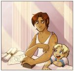 Young Heph and Hermes by Kitsune64
