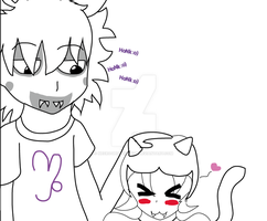 Gamzee and Nepeta -off color :3- by ornella09