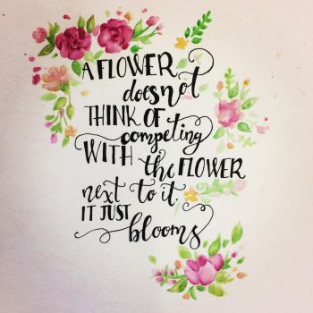 A Flower Just Blooms by oxVictoriquexo