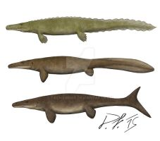 Mosasaurs, now and then by Pachyornis