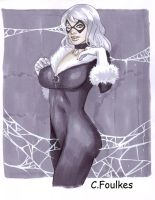 Black Cat Webbed by daikkenaurora