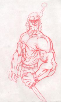 Brock Samson of the Venture Brothers by WTK