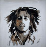 Bob Marley by snakeboyillustration