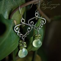 Apple green rainforest earring by OlgaC