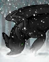 Toothless loves the snow by Moose15