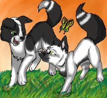 Friendship as Plain as Black and White- Commish by TavariWolf