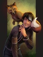 Mateo and Fox by artsangel