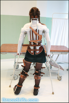 Marie Paralytic Scoliosis Full Body Bracing 3 by MedicBrace