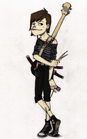 Me as a Jamie Hewlett Character by Aruthe