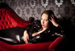 Latex Luciferya on Couch by ART-Obscure