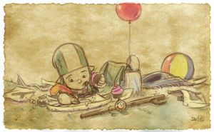 Thomas the Leap Year sketching Elf 10 by D-Gee
