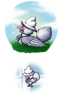 PN: Leveling up the White Birdie by Bulbiekins