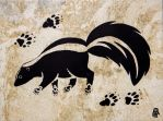 Prehistoric Style Striped Skunk painting by RobertMeyer