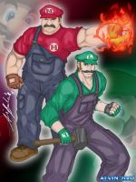Super Mario Badasses Colored by TheALVINtaker