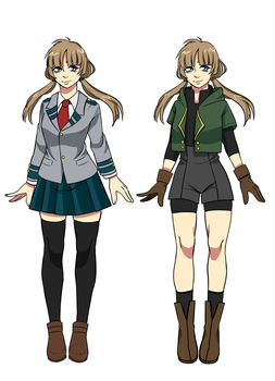 BNHA OC Emiko outfits by killyi
