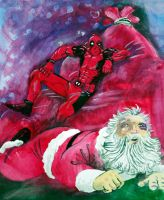 Deadpool PWNS Xmas by jonc20