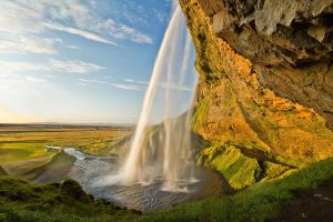 Seljalandsfoss at Sunset by cwaddell