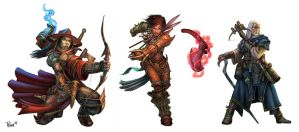 Paizo Ranged Tacticts Toolbox Characters by PTimm