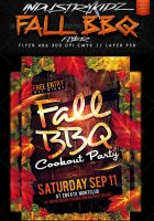 Fall BBQ Flyer Template by Industrykidz