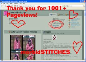 1001 Pageviews Screen Shot by morbid-stitches
