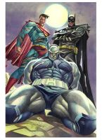 Fan Art - Super and Batman x Darkseid - WC by taguiar