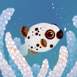 Blackspotted puffer by pikaole