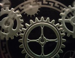 Mechanical Gears, closeup etch by ImaginedGlass