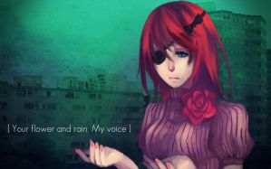 Your flower and rain, my voice by Kaktus-chan