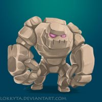 Golem - Clash of Clans by lokkyta