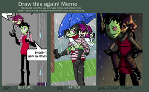 Draw this again meme by SpazzyMouseGirl