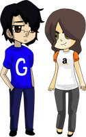 Chibi Googleplier and Amazon by C-S-Shade