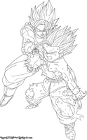 Father Son Kamehameha Lineart by JamalC157