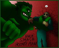 Jason vs the Incredible Hulk by What-the-Gaff