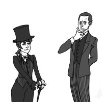 Sherlock and Moriarty by cesca-specs