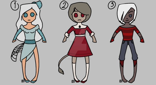 Humanoid Adopts [Closed] by Crazy-Artist-Person