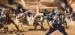 Rescue From Geonosis by StevePalenicaStudios