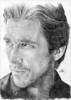 Christian Bale portrait HQ by th3blackhalo
