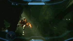 Master Chief is attacked by Meta77
