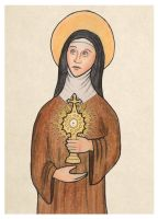 St. Clare of Assisi by mephetti