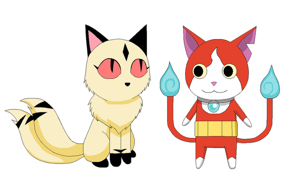 Kilala and Jibanyan by Kitsune257