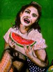 Watermelon Girl by fleetofgypsies